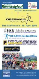 Bad Staffelstein I 19. April 2009 - Obermain-Marathon