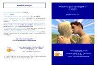 Animations pour adolescent-e-s et adultes - Visualis