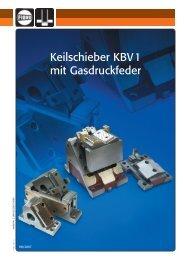 Keilschieber KBV1 mit Gasdruckfeder - Fibro GmbH