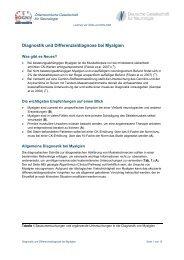 Diagnostik und Differenzialdiagnose bei Myalgien - Österreichische ...