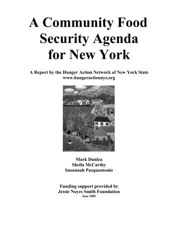 A Community Food Security Agenda for NYS - Hunger Action ...
