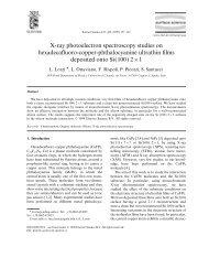 X-ray photoelectron spectroscopy studies on hexadecafluoro ... - Infn