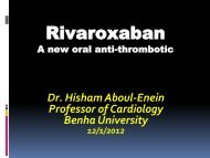 Recent advances in oral anticoagulants - RM Solutions