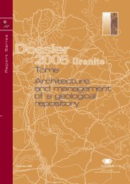 Tome Architecture and management of a geological repository - Andra