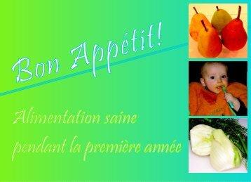 Bon appétit! Alimentation saine pendant la première année - Initiativ ...