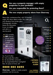 alarm 4pp new - Vacant Property Cleaning Services