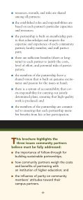 BUILDING PARTNERSHIPS WITH COLLEGE CAMPUSES ... - Page 6