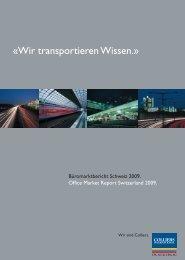 ÿWir transportieren Wissen.Ÿ - Colliers International Zurich