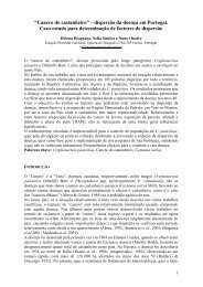"""A """"tinta"""" e o """"cancro"""": principais doenças do castanheiro em ... - ESAC"""