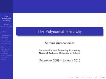 The Polynomial Hierarchy - Corelab