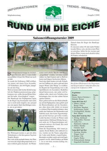 Palliativ Pokal 2009 - Golfclub Weselerwald eV