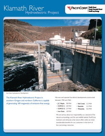 Klamath River Hydroelectric Project - PacifiCorp