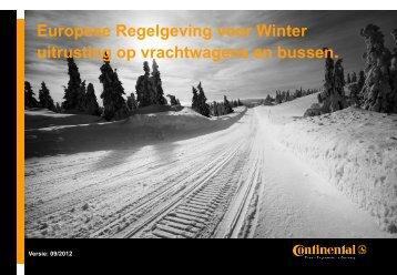 Europese winterregelgevingen 2012