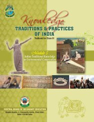 Indian Traditional Knowledge on Environmental Conservation - CBSE