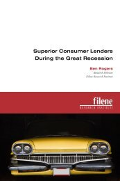 Superior Consumer Lenders During the Great Recession - Filene ...