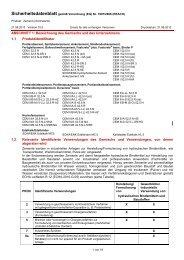 Sicherheitsdatenblatt Zemente - SCHWENK Zement KG
