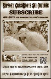 POWDER SKIING FREE 1.877.647.3831 - Off-Piste Magazine