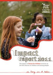 Action for Children - Impact Report 2011