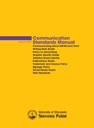 Communication Standards Manual - University of Wisconsin ...