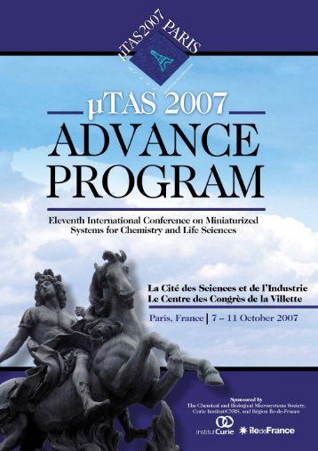 MTAS07 Advance Program 2 - MicroTAS Conferences