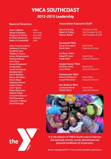 2012 Annual Report - YMCA Southcoast