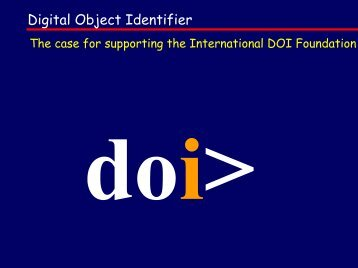 Digital Object Identifier - DOIs