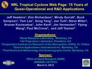 NRL Tropical Cyclone Web Page: 15 Years of Quasi ... - NOAA