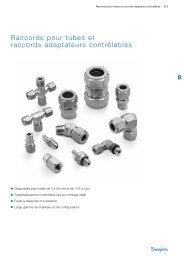 Raccords pour tubes et raccords adaptateurs contrôlables - Swagelok
