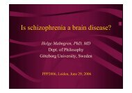 Is schizophrenia a brain disease?