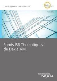 Fonds ISR Thematiques de Dexia AM - Dexia Asset Management