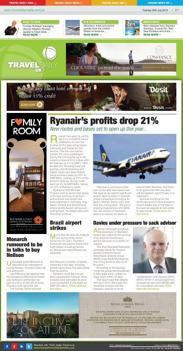 Tuesday 30th July 2013.indd - Travel Daily Media