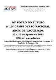 Potro do Futuro e Campeonato Nacional - Portal Vaquejada