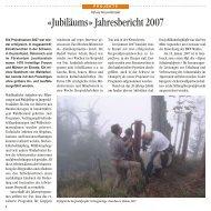 «Jubiläums» Jahresbericht 2007 - Bergwaldprojekt