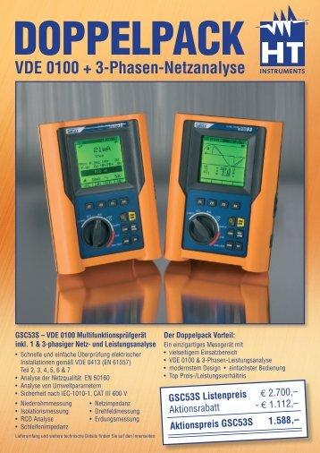VDE 0100 + 3-Phasen-Netzanalyse GSC53S Listenpreis