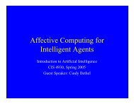 Affective Computing for Intelligent Agents