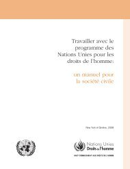 Travailler avec le programme des Nations Unies pour les droits de l ...