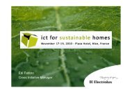 Energy@Home - ICT for sustainable homes