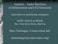 Conservation International case studies - GOFC-GOLD LC-IT Office