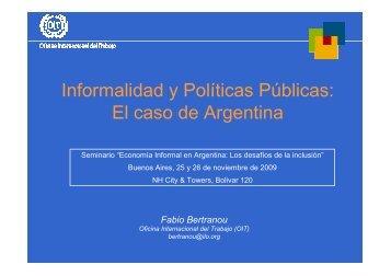 El caso de Argentina - Oit