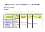 Wykaz prac legislacyjnych Ministra Rozwoju Regionalnego