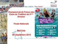 Championnat de France des Clubs de Triathlon de 3ème Division ...