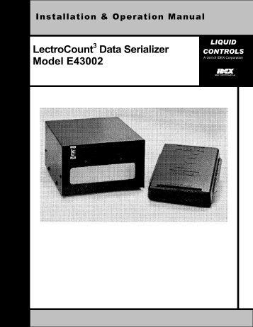 LectroCount3 Data Serializer E43002 IOM - Liquid Controls
