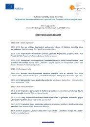 Konferencijos programa ir apie lektorius skaitykite čia. - Kultura 2007