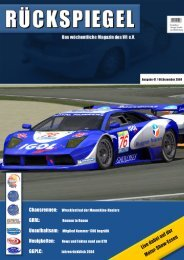 GGPLC: Jahresrückblick 2004 Live dabei auf der ... - Virtual Racing eV