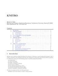 KNITRO - Available Software
