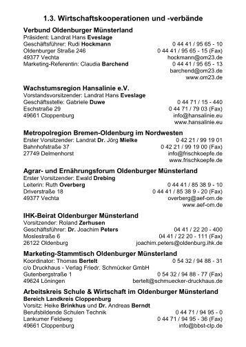 verbände - Verbund Oldenburger Münsterland
