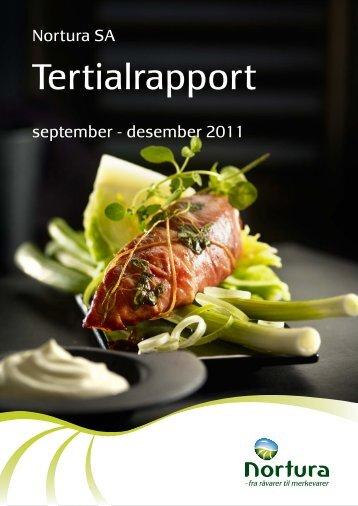 Tertialrapport september – desember 2011 - Nortura