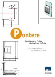 Ganzglasdusche Pontere – individuell und vielfältig glass shower ...