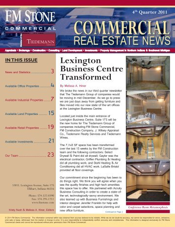 4Q 2011 FM Stone Commercial Real Estate News