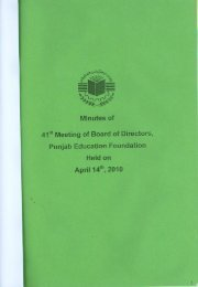 Minutes of 41st BOD Meeting held on April 14, 2010 - Punjab ...